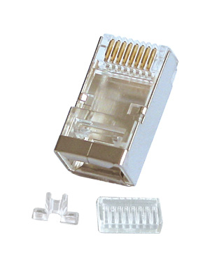 LINDY 62435 RJ-45 CONNECTOR, 10PK 8-PIN CAT.6 GREY WIRE CONNECTOR
