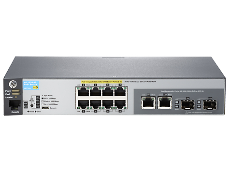 HPE J9774A#ABB ARUBA 2530 8G POE+ MANAGED NETWORK SWITCH L2 GIGABIT ETHERNET (10/100/1000) POWER OVER (POE) 1U GREY
