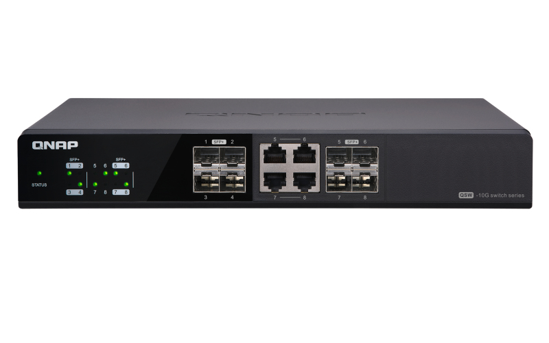 QNAP QSW-804-4C UNMANAGED NONE BLACK NETWORK SWITCH