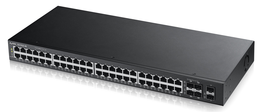 ZYXEL GS1920-48-EU0101F GS1920-48 MANAGED NETWORK SWITCH L2 GIGABIT ETHERNET (10/100/1000) BLACK