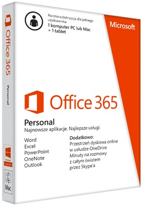 MICROSOFT QQ2-00759 OFFICE 365 PERSONAL 1LICENSE(S) 1YEAR(S) GERMAN