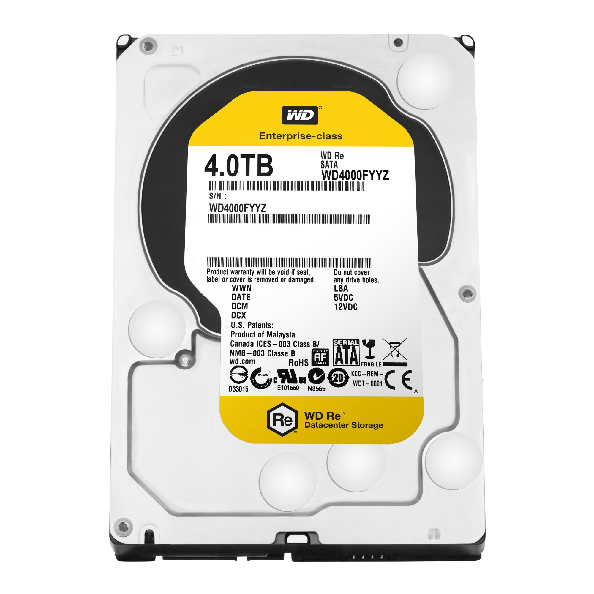 WESTERN DIGITAL RE 4TB 4000GB SERIAL ATA III INTERNAL HARD DRIVE REFURBISHED