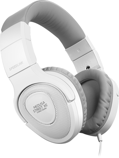 SPEEDLINK SL-870000-WEGY MEDUSA STREET XE BINAURAL HEAD-BAND GREY,WHITE HEADSET