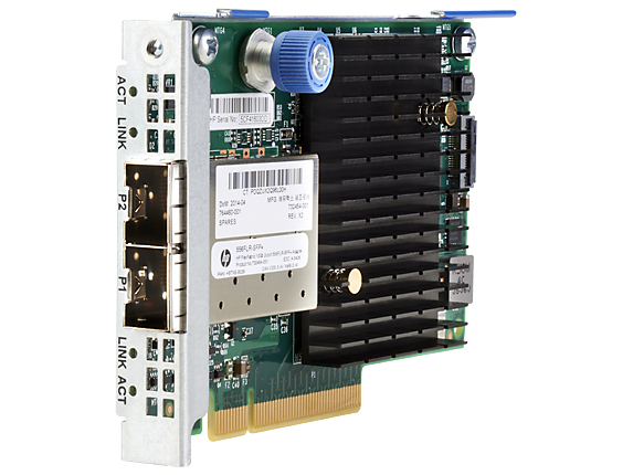 HPE 727060-B21 FLEXFABRIC 10GB 2-PORT 556FLR-SFP+ INTERNAL FIBER 10000MBIT/S NETWORKING CARD