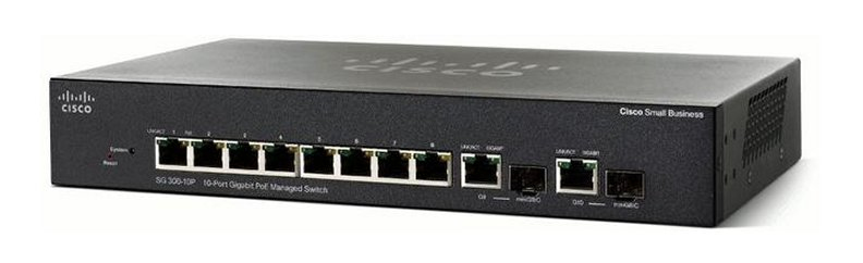 CISCO SG355-10P-K9-EU SG355-10P MANAGED L3 GIGABIT ETHERNET (10/100/1000) BLACK POWER OVER (POE)