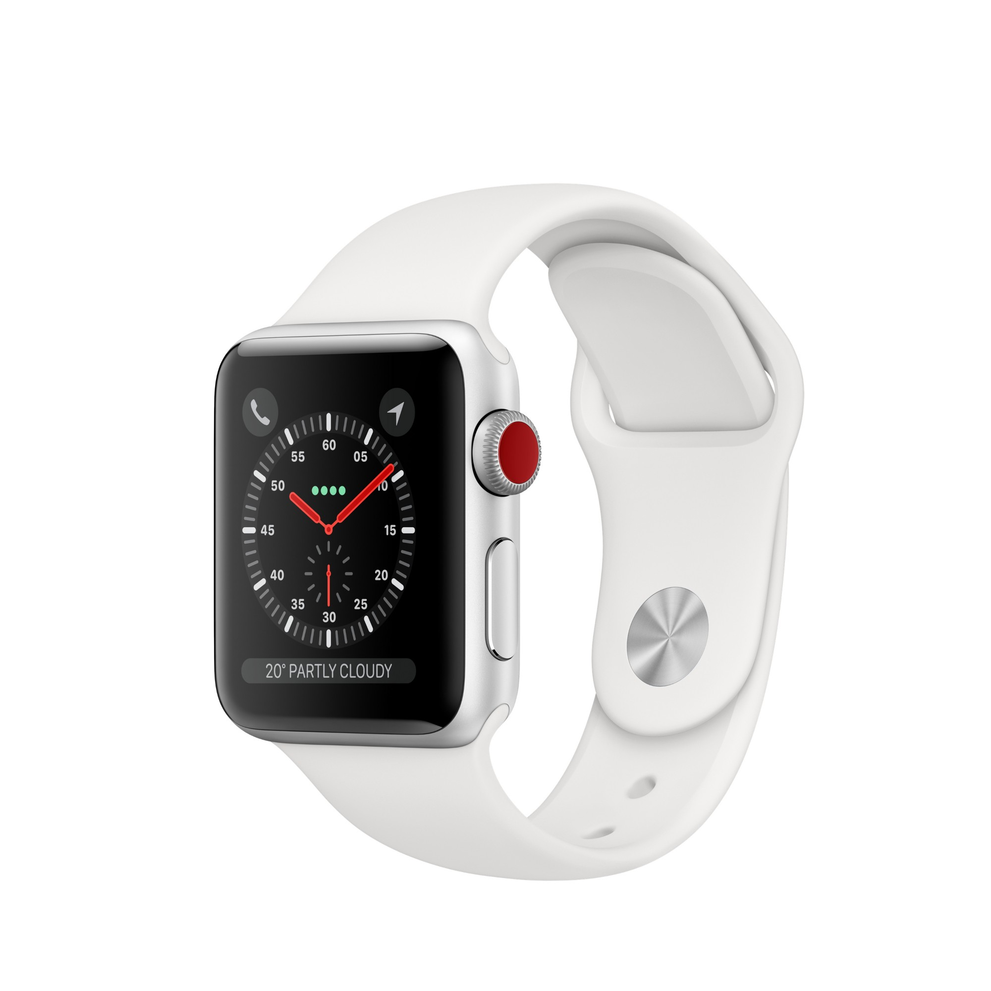 APPLE MTGN2B/A WATCH SERIES 3 SMARTWATCH SILVER OLED CELLULAR GPS (SATELLITE)