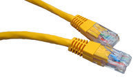 CABLES DIRECT 99TRT-600Y CAT5E UTP 0.5M YELLOW NETWORKING CABLE