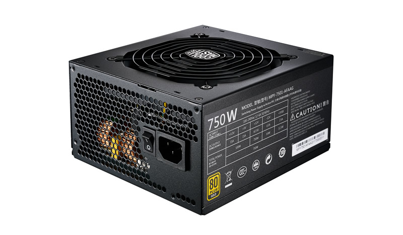 COOLER MASTER MPY-7501-AFAAG-UK MWE GOLD 750 FULL MODULAR POWER SUPPLY UNIT W ATX BLACK