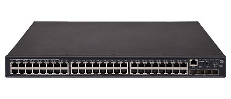 HPE JG937A 5130-48G-POE+-4SFP+ (370W) EI MANAGED NETWORK SWITCH L3 GIGABIT ETHERNET (10/100/1000) POWER OVER (POE) 1U BLACK