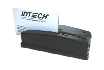 ID TECH WCR3237-533UC OMNI USB / PS/2 BLACK MAGNETIC CARD READER