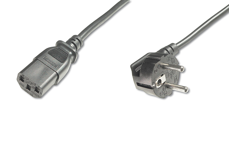DIGITUS AK-440109-025-S 2.5M C13 COUPLER BLACK POWER CABLE