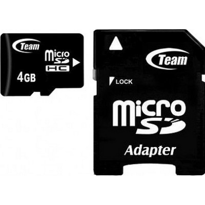 TEAM GROUP TUSDH4GCL1003 MICROSDHC 4GB MEMORY CARD 2 GB CLASS 10