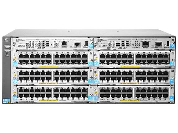 HPE J9821A#ABB 5406R ZL2 MANAGED NETWORK SWITCH L3 GIGABIT ETHERNET (10/100/1000) POWER OVER (POE) 4U GREY