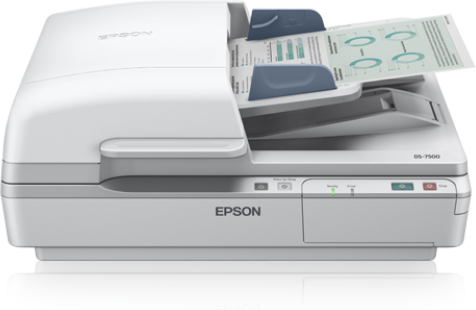 EPSON B11B205331BY WORKFORCE DS-7500 FLATBED SCANNER 600 X 2400DPI A4 WHITE