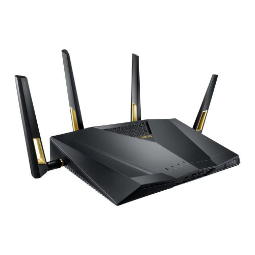 ASUS 90IG04F0-MU2G00 (RT-AX88U) AX6000 (1148 + 4804MBPS) WIRELESS DUAL BAND GAMING ROUTER, MU-MIMO, 802.11AX, USB 3.0, 8