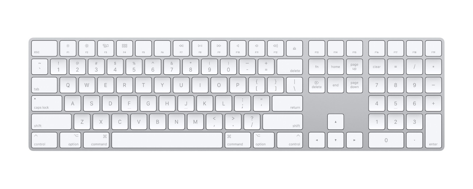 APPLE MQ052MG/A MAGIC BLUETOOTH QWERTZ HUNGARIAN WHITE