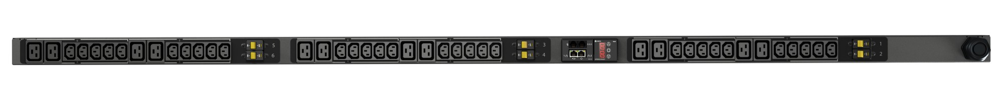 VERTIV VP8886 GEIST RPDU, MONITORED, 0U, INPUT IEC60309 230/400V 3X32A, OUTPUTS (30)C13 | (12)C19 POWER DISTRIBUTION UNIT