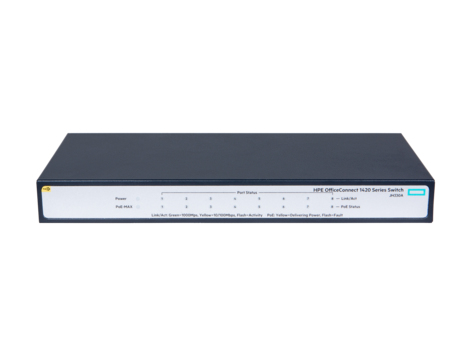 HPE JH330A OFFICECONNECT 1420 8G POE+ (64W) UNMANAGED NETWORK SWITCH L2 GIGABIT ETHERNET (10/100/1000) POWER OVER (POE) 1U GR