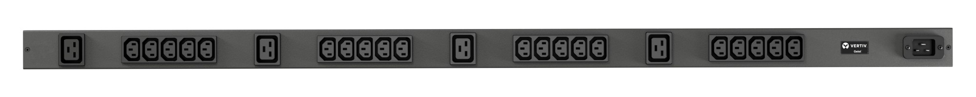 VERTIV VP7552 GEIST RPDU, BASIC, 0U, INPUT C20 230V 16A, OUTPUTS (20)C13 | (4)C19 POWER DISTRIBUTION UNIT (PDU) BLACK 24 AC OUTLET(S)