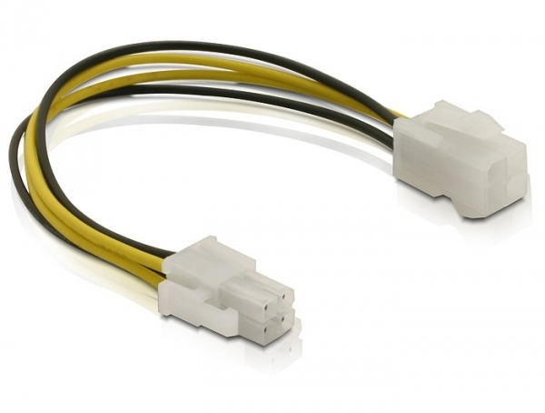 DELOCK 82428 POWER CABLE P4 MALE/FEMALE MULTICOLOUR 0.15M