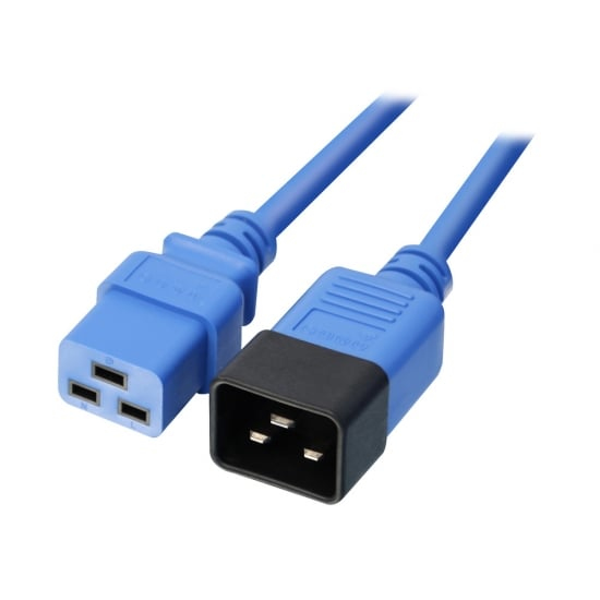 LINDY 30122 3M C19 COUPLER C20 BLUE POWER CABLE