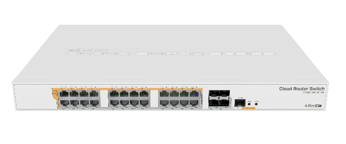 MIKROTIK CRS328-24P-4S+RM NETWORK SWITCH MANAGED L2/L3 GIGABIT ETHERNET (10/100/1000) WHITE 1U POWER OVER (POE)