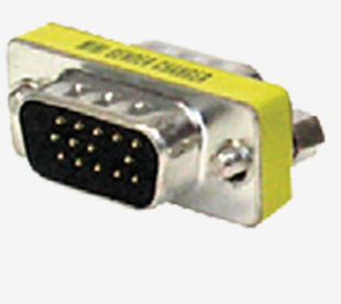 CABLENET GENCHAN15M CABLE INTERFACE/GENDER ADAPTER HD15 SILVER, YELLOW
