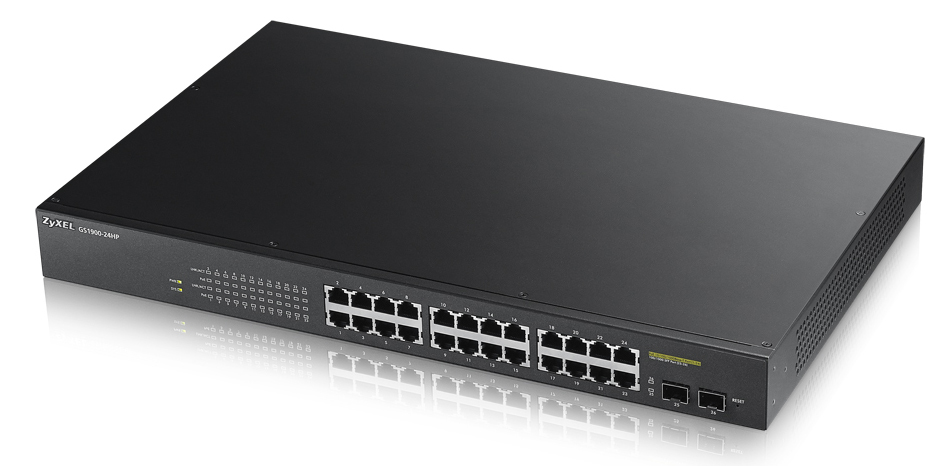 ZYXEL GS1900-24HP-EU0101F GS1900-24HP MANAGED NETWORK SWITCH L2 GIGABIT ETHERNET (10/100/1000) POWER OVER (POE) BLACK