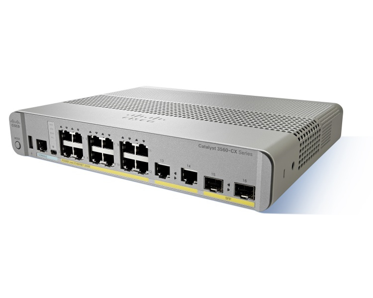 CISCO WS-C3560CX-12TC-S CATALYST NETWORK SWITCH MANAGED L3 GIGABIT ETHERNET (10/100/1000) GREY, WHITE