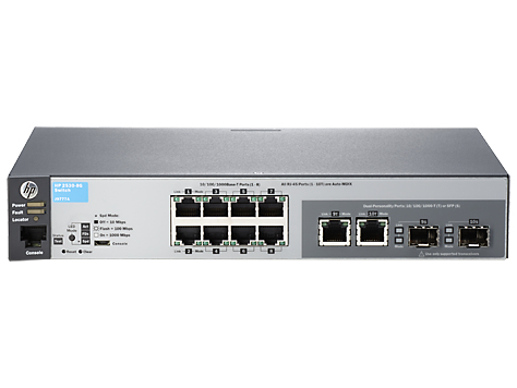 HPE J9777A#ABB ARUBA 2530-8G MANAGED NETWORK SWITCH L2 GIGABIT ETHERNET (10/100/1000) 1U GREY