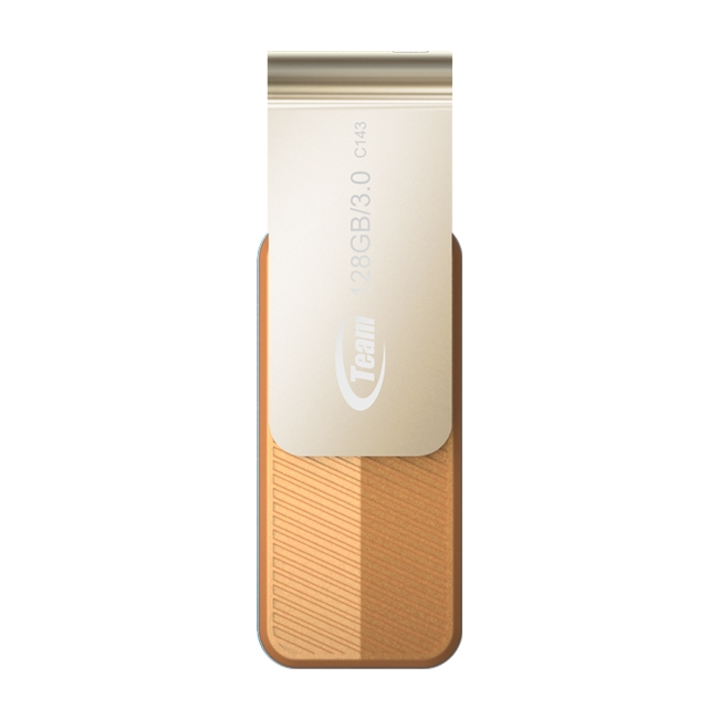 TEAM GROUP TC1433128GN01 C143 USB FLASH DRIVE 128 GB 3.0 (3.1 GEN 1) TYPE-A CONNECTOR BROWN, GOLD