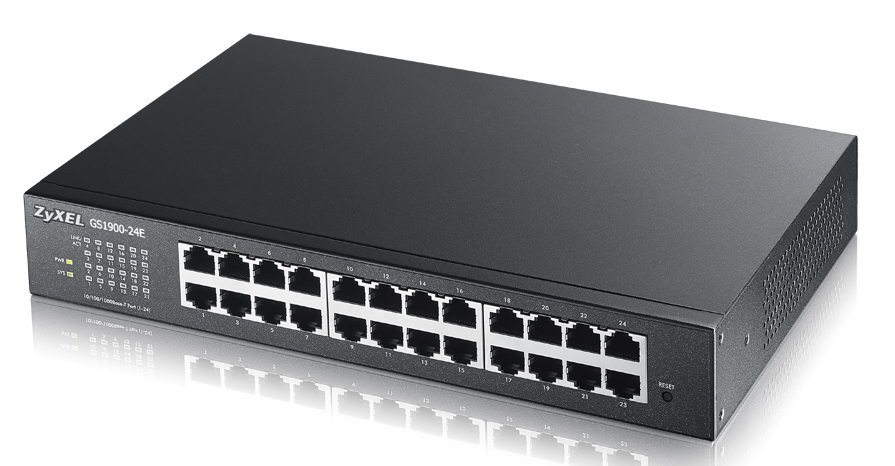 ZYXEL GS1900-24E-EU0101F GS1900-24E MANAGED NETWORK SWITCH L2 GIGABIT ETHERNET (10/100/1000) BLACK