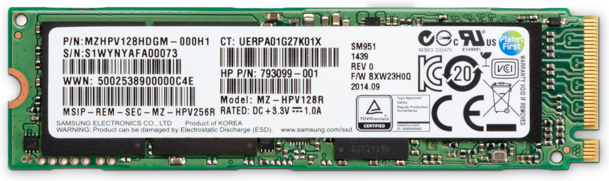 HP 1PD51AA Z TURBO DRIVE 512GB MLC (Z8G4) SSD MODULE