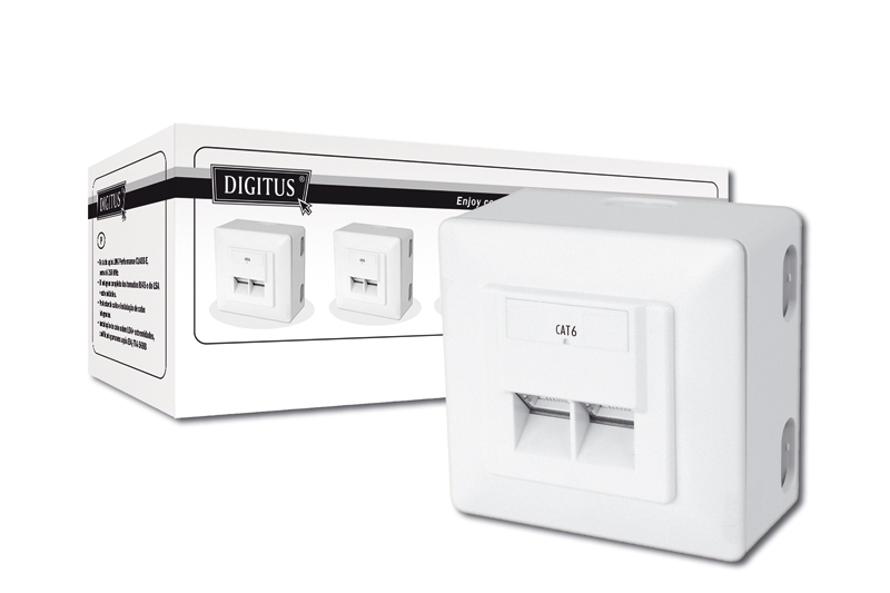 DIGITUS DN-9006/B5-N MODULAR WALL OUTLET CAT6 WIRE CONNECTOR RJ-45