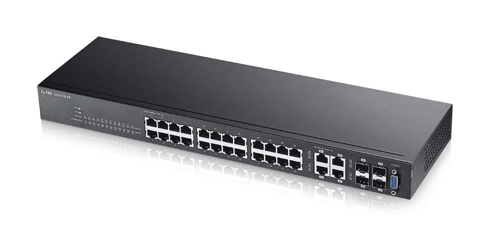 ZYXEL GS2210-24-EU0101F GS2210-24 MANAGED NETWORK SWITCH L2 FAST ETHERNET (10/100) BLACK