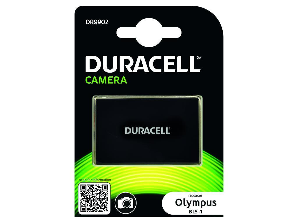 DURACELL DR9902 CAMERA BATTERY - REPLACES OLYMPUS BLS-1 RECHARGEABLE