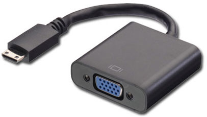 MICROCONNECT HDMIVGAB HDMI TYPE C (MINI) VGA (D-SUB) VIDEO CABLE ADAPTER