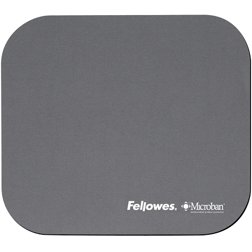FELLOWES 5934005 MICROBAN MOUSE PAD SILVER