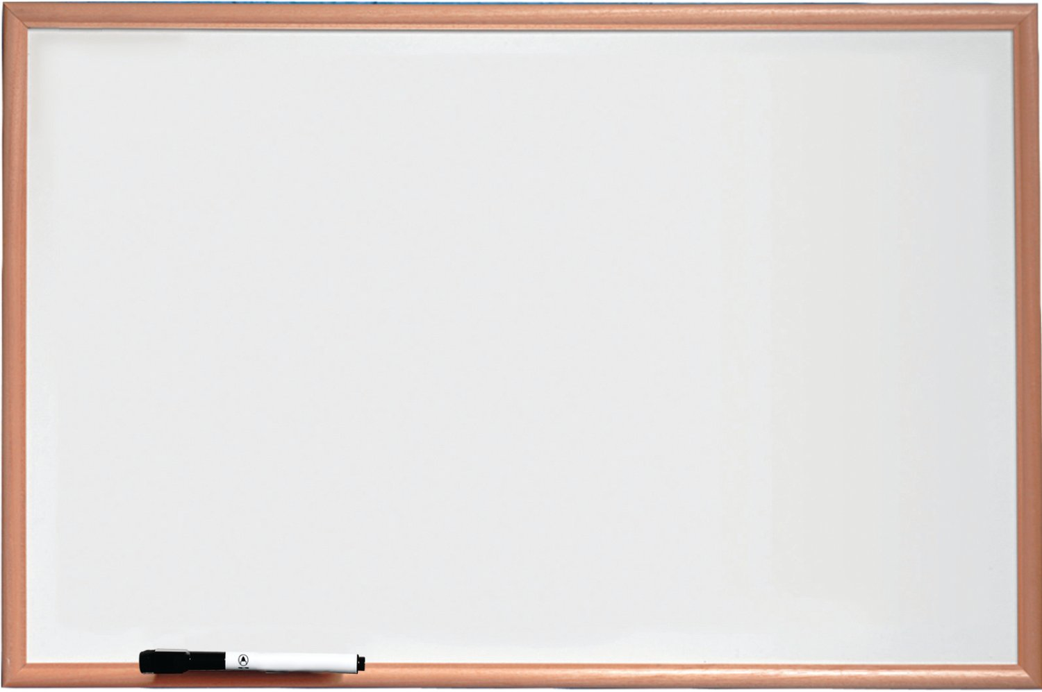 NOBO 1905200 BASIC MELAMINE NON MAGNETIC WHITEBOARD 900X600MM WITH PINE TRIM