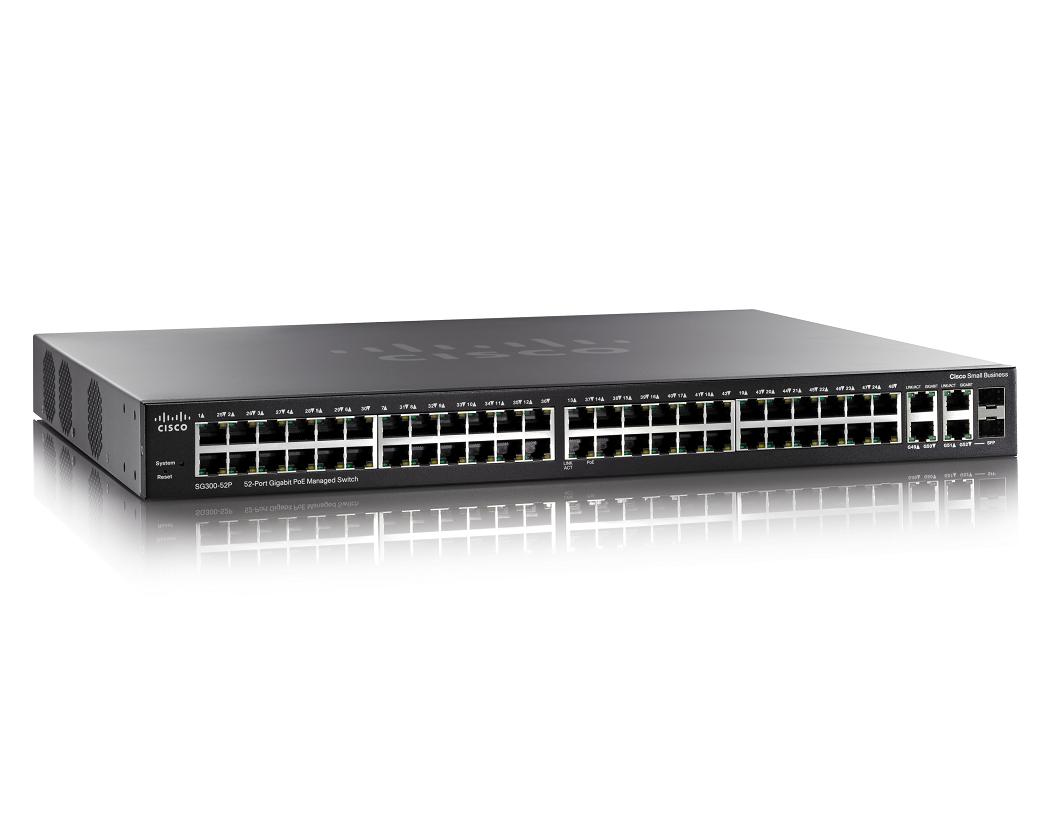 CISCO SG300-52P-K9-UK SMALL BUSINESS SG300-52P MANAGED NETWORK SWITCH L3 GIGABIT ETHERNET (10/100/1000) POWER OVER (POE) BLACK