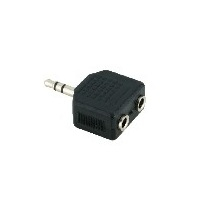 V7 V7AUD2ADPT35PLUG AUDIO ADAPTER 3.5MM JACK TO 2X SOCKET