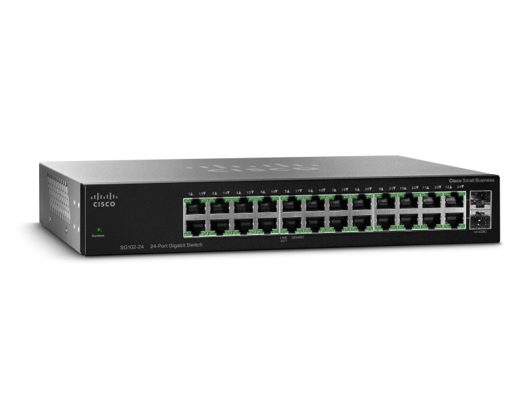 CISCO SG112-24-EU SG112-24 UNMANAGED L2 GIGABIT ETHERNET (10/100/1000) BLACK 1U
