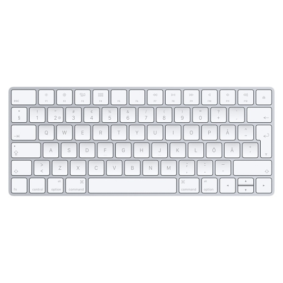 APPLE MLA22S/A MAGIC KEYBOARD BLUETOOTH QWERTY SWEDISH SILVER, WHITE