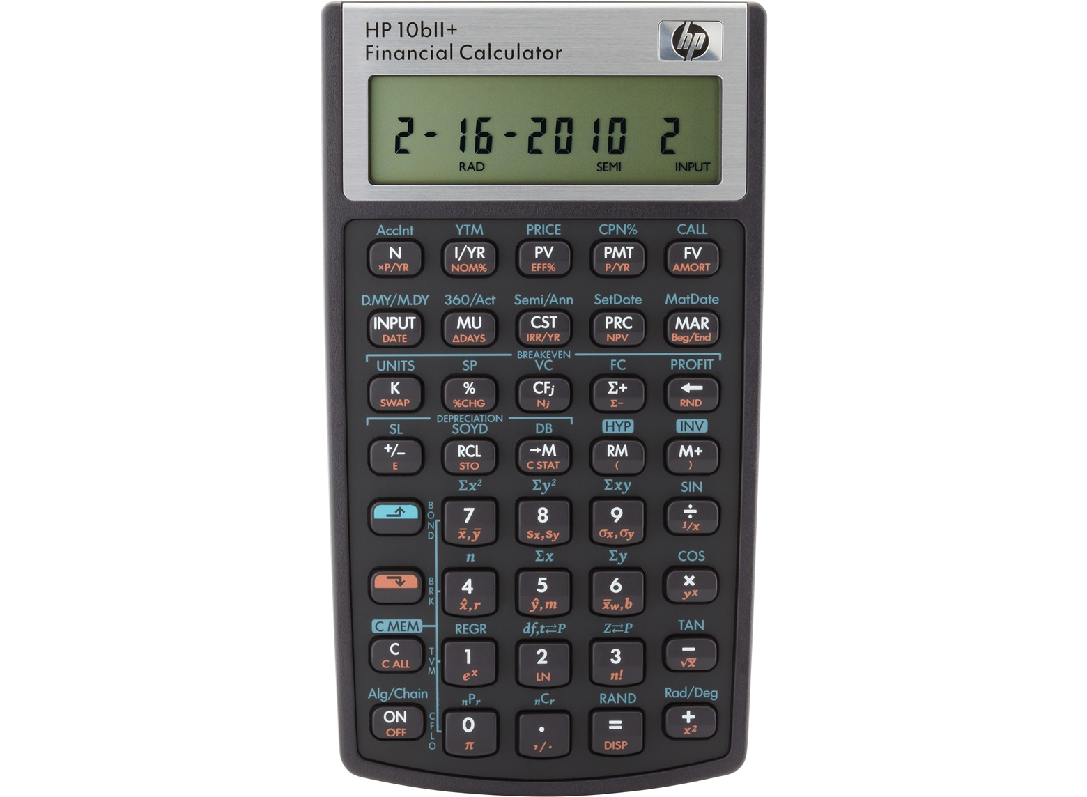 HP 10BII+ CALCULATOR POCKET FINANCIAL BLACK