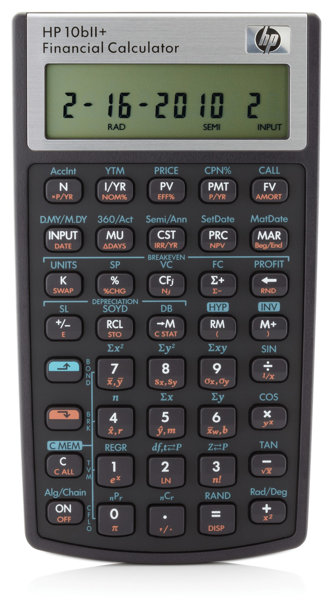 HP 10bII+ calculator