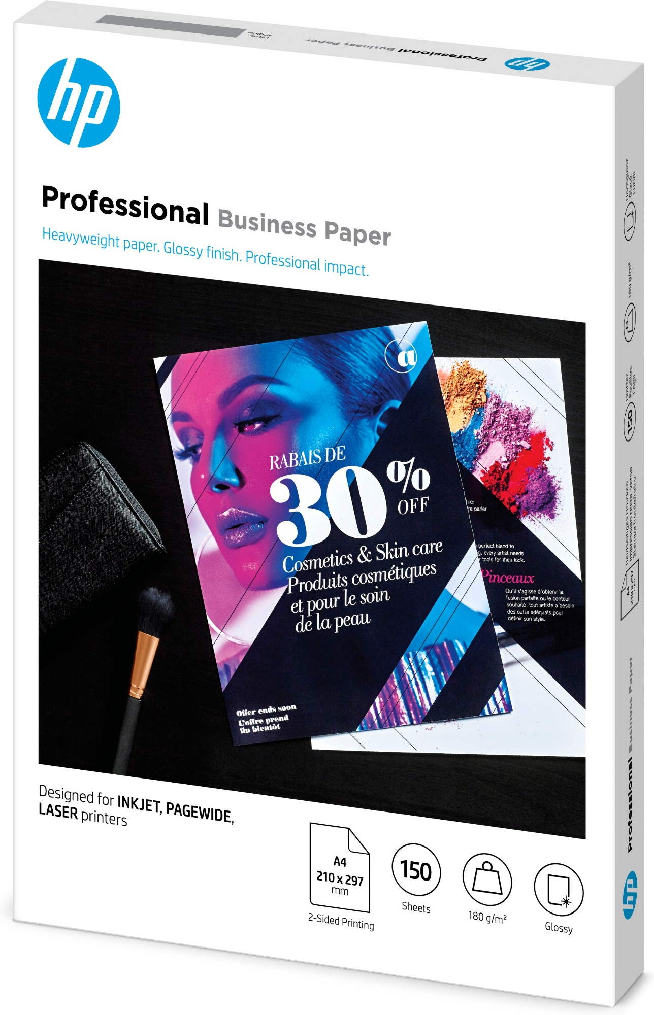 HP 3VK91A printing paper A4 210x297 mm Gloss 150 sheets White
