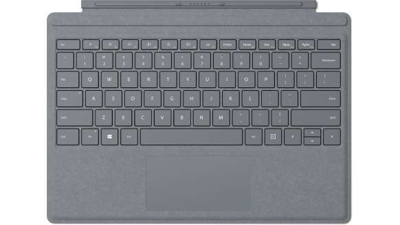 Microsoft Surface Pro Signature Type Cover mobile device keyboard QWERTY English Platinum Microsoft Cover port