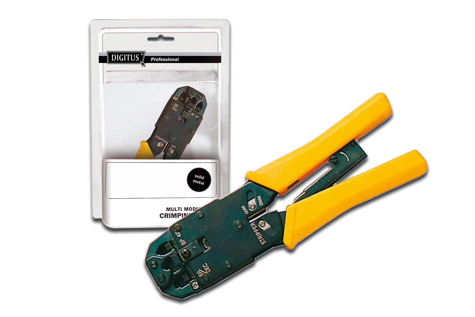 DIGITUS DN-94004 CABLE CRIMPER GREEN,YELLOW