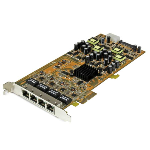 STARTECH ST4000PEXPSE 4 PORT GIGABIT POWER OVER ETHERNET PCIE NETWORK CARD - PSE POE PCI EXPRESS NIC QUAD
