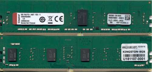 KINGSTON 8GB DDR4-2400MHZ ECC REG CL17